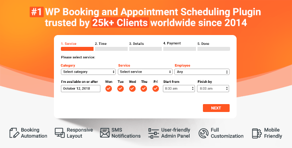 Bookly Pro (Add-on) 3.2 Nulled / Bookly 19.0 - Appointment Booking and Scheduling