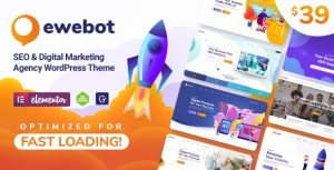 Ewebot 2.2.3 Nulled - Marketing SEO Digital Agency WordPress Theme