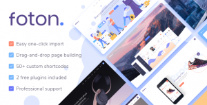 Foton 2.0 Nulled - Software and App Landing Page Theme