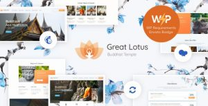 Great Lotus 1.3.1 - Oriental Buddhist Temple WordPress Theme