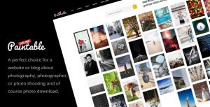 Paintable 2.4 - Photography and Blog / Photos Download WordPress Theme