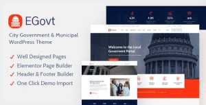 EGovt 1.0.4 - City Government WordPress Theme