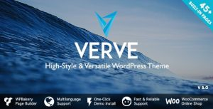 Verve 5.0.1 Nulled - High-Style WordPress Theme
