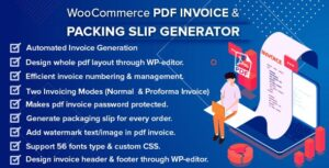 WooCommerce PDF Invoice & Packing Slip Generator 1.5.0 Nulled